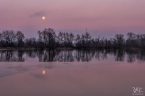 Luna po sončnem zahodu, Krajinski park Rače