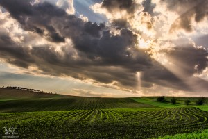 Oblaki in sončni žarki