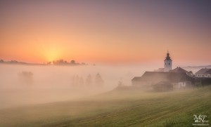 Sončni vzhod v megli, Jurovski Dol