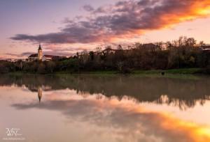 Sončni zahod ob Dravi, Maribor
