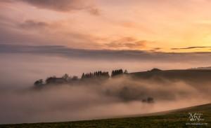 Sončni zahod z meglo, Zg.Prebukovje