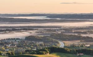 Jutranji pogled s Plačkega stolpa - v avstrijsko stran