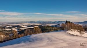 Bojtina v snegu - pogled na Dravsko polje