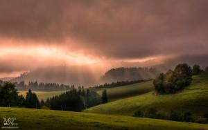 Sonce skozi oblak - Planica na Pohorju