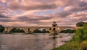 Večerni pogled na Avignon