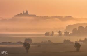 Jutranje sonce skozi meglo, Sveta Trojica v Slov.goricah
