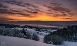 Pred sončnim vzhodom - pogled na Dravsko polje