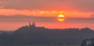 Sončni vzhod - sonce za oblaki, Sveta Trojica v Slov.goricah