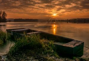 Sončni zahod, Trojiško jezero