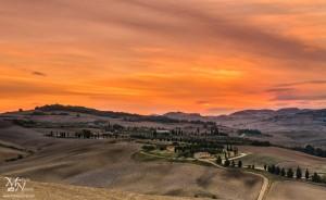 Sončni vzhod v Toskani