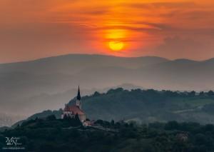 Večerno sonce - za oblaki in meglo, Malečnik