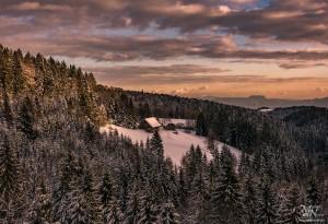 Zimski večerni pogled